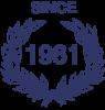 SINCE-1961-Blue
